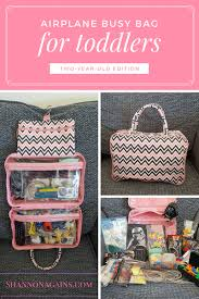 airplane busy bag for toddlers two year old edition shannonagains