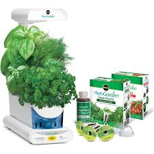 miracle gro aerogarden sprout white with gourmet herbs seed pod