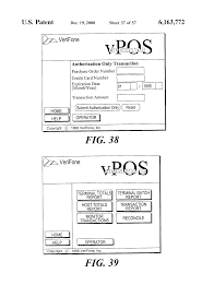 patent us6163772 virtual point of sale processing using gateway