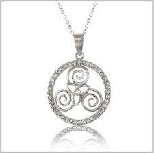 anam cara symbol celtic triskele necklaces sterling silver triskele necklace