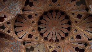 ancient wooden arched ceiling in 4k ultra high definition