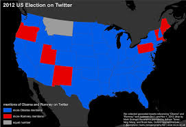 2012 Election Map by Floatingsheep Can Twitter Predict The Us Presidential Election