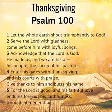 happy thanksgiving psalm 100 heath perry