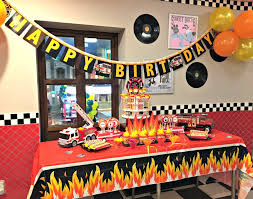 Firefighter Themed Kids Birthday Party Ideas - Firefighter kids room