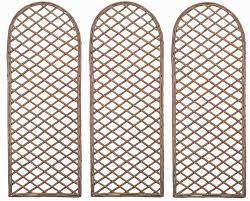 set of 3 willow trellis curved gardman 07522at amazon co uk