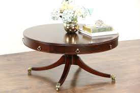 Pedestal Coffee Table Sold Traditional Drum Style Pedestal Coffee Table 1950 S