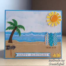 surf theme birthday card handmade by graciekofoed my handmade