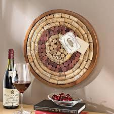 round wine cork board kit wine enthusiast