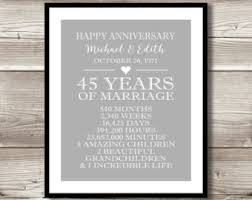 45 year anniversary gift 20 year anniversary gift for parents 20th anniversary present