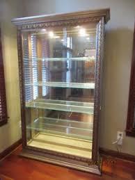 Curio Cabinets Shelves Lighted Curio Cabinet Ebay