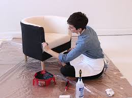 Where Can I Buy Upholstery Fabric How To Paint A Fabric Chair How Tos Diy