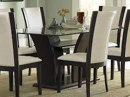 Glass Topped Dining Table And Chairs Rectangle Glass Top Dining Table Sets Best Gallery Of Tables