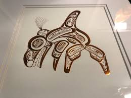 framed copper print u0027haida killer whale skanna u0027 by haida artist