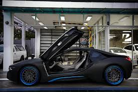 Bmw I8 Modified - thai bmw i8 gets custom blue adv 1 wheels gtspirit