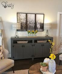 Console Table In Living Room Diy Modern Farmhouse Media Console Table Shanty 2 Chic