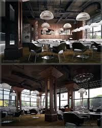 interior restaurant interior industrial design featuring white