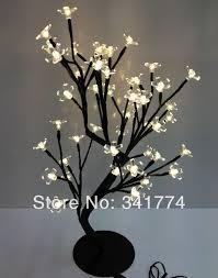 led light tree branches led crystal cherry blossom tree christmas year wedding luminaria