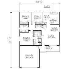 Ranch Style House Plans Ranch Style House Plan 3 Beds 2 00 Baths 1360 Sq Ft Plan 100 468