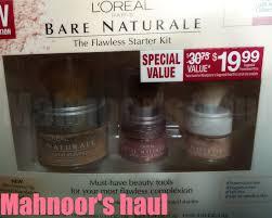 mahnoor u0027s haul l u0027oreal bare naturale gentle mineral makeup the