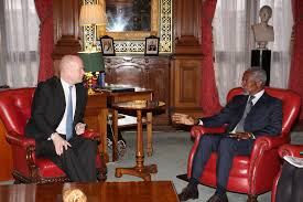 Mr Brown London Furniture by File Foreign Secretary William Hague Meeting H E Mr Kofi Annan