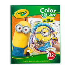 amazon crayola color sticker pages minions toys u0026 games