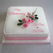 wedding cake name write name happy anniversary pink cake wedding cake