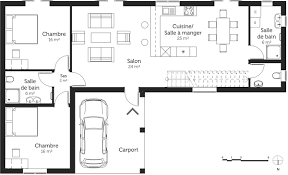 plan de maison 5 chambres plan maison 150 m avec 5 chambres ooreka