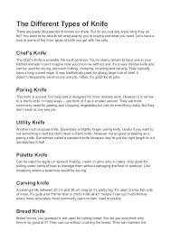 different types of kitchen knives and their uses the many types of knife sets