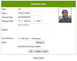 cara membuat form upload file dengan php membuat aplikasi data mahasiswa dengan php bagian 4
