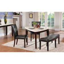 triangle dining table in espresso with marble top multiple colors