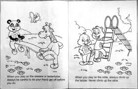 playground safety awareness cb249 educational coloring books