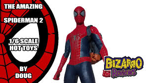 the amazing spiderman 2 toys 1 6 scale review pt br youtube