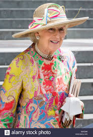 uk 10th june 2016 princess alexandra attend the service