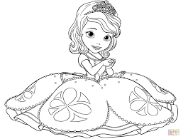 coloring cute princess print outs sofia coloring
