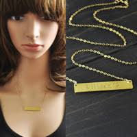 Gold Name Bar Necklace Wholesale Personalized Bar Necklace Buy Cheap Personalized Bar