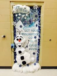 Christmas Door Decorating Contest Ideas Wintry Door Decorations From Teacher Ailsa Price Via Our