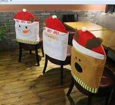 snowman chair covers christmas decoration christmas chairs back covers santa snowman