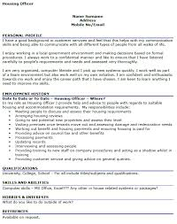 housing officer cv example u2013 cover letters and cv examples