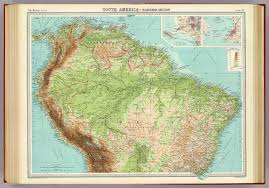 south america map buy south america northern section david rumsey historical map