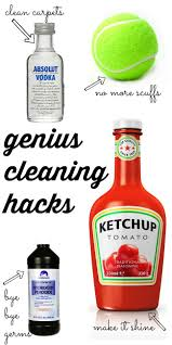 How To Keep House by Genius Cleaning Hacks Ketchup And Tennis Balls Can Clean Your