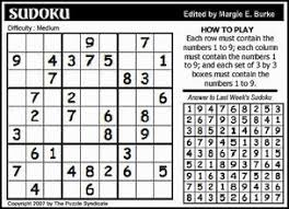 the puzzle syndicate crossword sudoku puzzles for weekly
