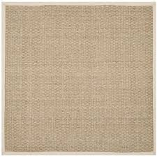 Square Sisal Rugs Decor U0026 Tips Cool Neutral Tone Of Durable Seagrass Rugs For