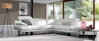 canap d angle cuir de buffle canapé d angle miami en cuir de buffle un intérieur blanc pour