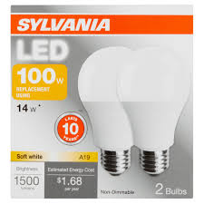 sylvania led light bulb 100w equivalent a19 soft white 2700k 2