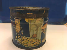 Planters Cocktail Peanuts by Planters Peanut Tin Ebay