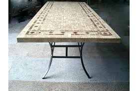 Travertine Patio Table Travertine Patio Table X Rectangular Aluminum Top Dining