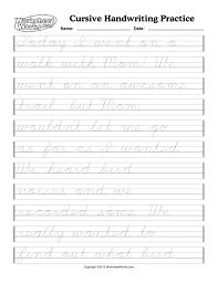 cursive handwriting worksheets cursive writing worksheet one