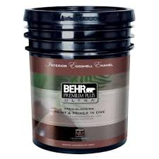 home depot 5 gallon interior paint behr premium plus ultra 5 gal ultra white eggshell enamel