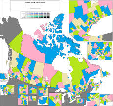 Blank Electoral Map by Canadian Federal Election 2015