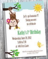 let u0027s go banana monkey birthday invitation